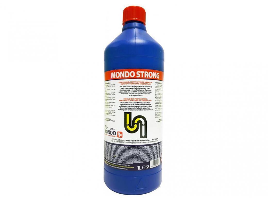 Produit Nettoyage Bardage Pvc mondo strong deboucheur industriel 1l