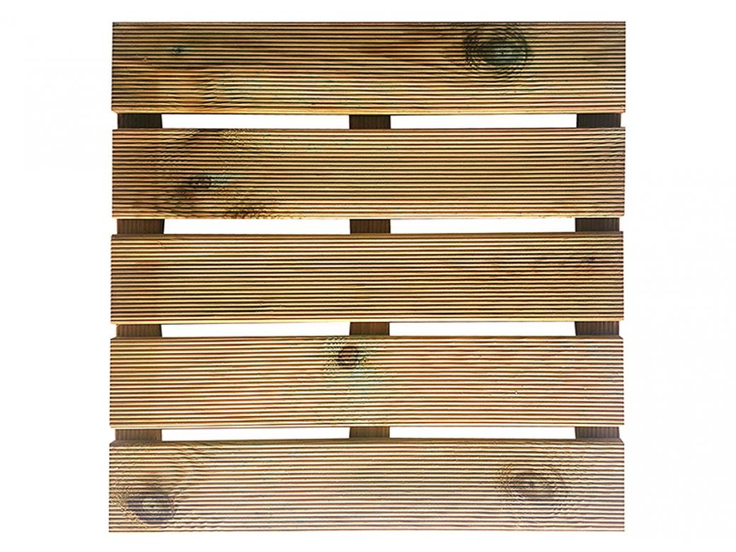 Dalle En Bois Jardin dalle de jardin en bois rainuree karo 50x50x3cm