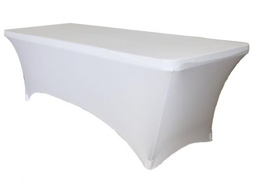 Housse Pour Table Pliante 183x76cm Blanc